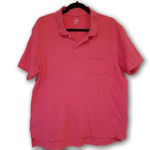 John Ashford Hi Lo Short Sleeve Polo Shirt Pink M